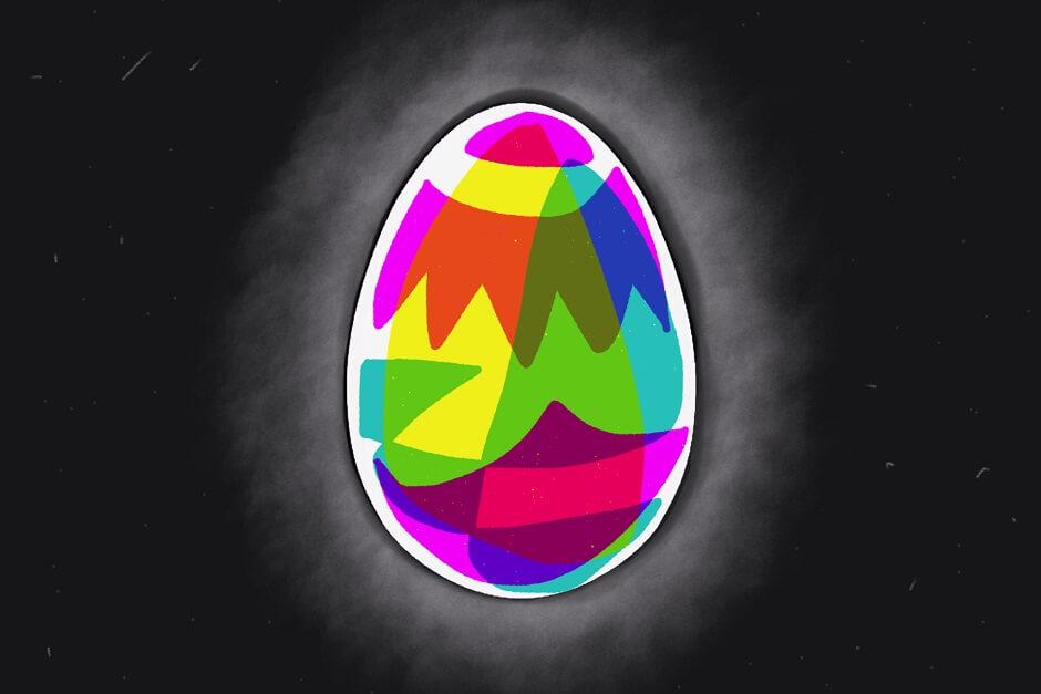 Rysunek. Kolorowe jajko - pisanka.
