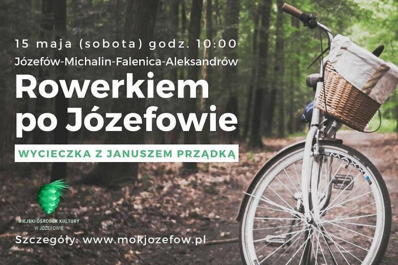 Rower stojący na leśnej ścieżce.